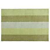 Tesco Rugs Vertical Stripe Rug Green 150X240Cm