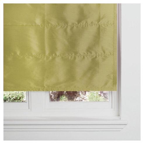 Faux Silk Lined Roman Blind 60x120cm Green