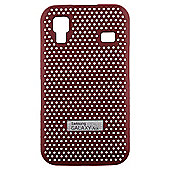 Samsung Original Metal Look Case Galaxy Ace Red