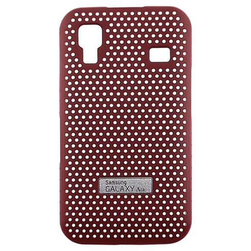 Anymode Metal Look Case for Galaxy Ace - Red
