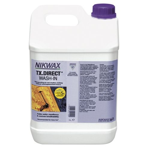 Nikwax TX Direct Wash-In Waterproofing for Wet Weather Clothing, 5 Litres