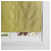Faux Silk Lined Roman Blind 90x120cm Green