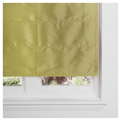 Faux Silk Lined Roman Blind 120x120cm Green