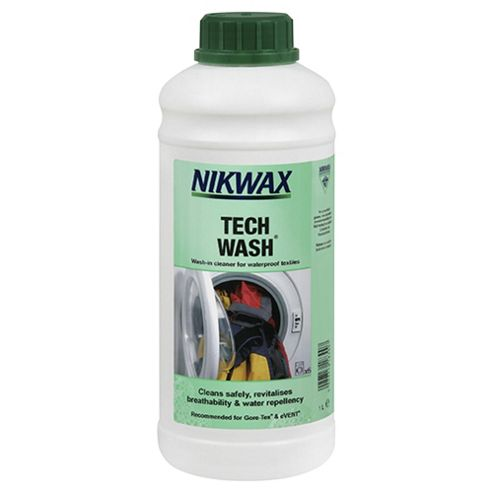 Nikwax Tech Wash Wash-In Cleaner for Waterproof Textiles, 1 Litre