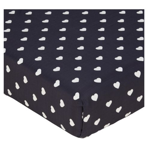 Heart Polka Double Fitted Sheet