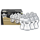Tommee Tippee Closer to Nature 260ml Bottles - 6 Pack