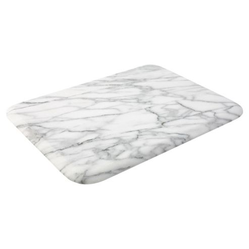 Buy T G Woodware Marble Large Rectangular Board White
