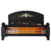 Yeominster radiant bar outset fire with flame effect