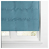 Faux Silk Lined Roman Blind 60x120cm Teal