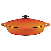 Chasseur 30cm Round Cast Iron Serving Casserole, Flame