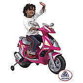 Injusa Duo Scooter Battery Operated Ride-On with Helmet, Pink