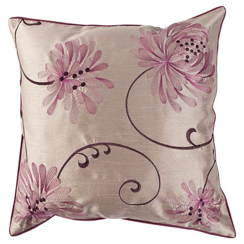 buy tesco cushions chrysanthemum cushion plum from our. Black Bedroom Furniture Sets. Home Design Ideas