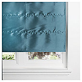Faux Silk Lined Roman Blind 90x160cm Teal