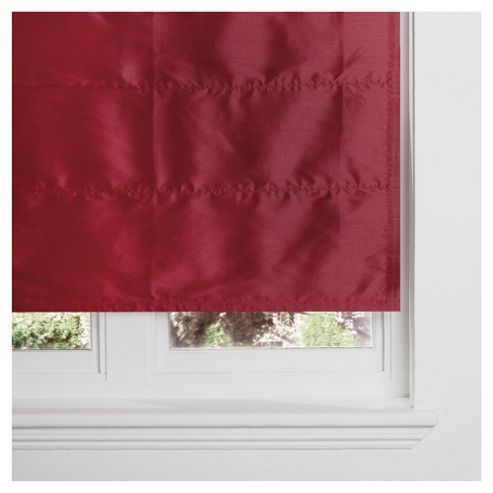 Faux Silk Lined Roman Blind 60x120cm Red