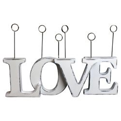 Love Photo Clip, Distressed White