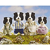Sylvanian Families - Border Collie Dog Family
