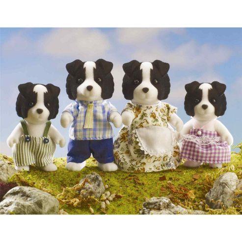 Sylvanian Families - Border Collie Dog Family