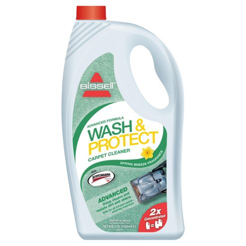 BISSELL Wash & Protect 2X Concentrated Carpet Washing Formula with Scotchgard Protection - Spring Breeze