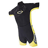 TWF Shortie Kids' 2.5mm Wetsuit - Black & Yellow