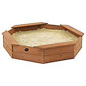 Plum Octagonal Wooden Sandpit