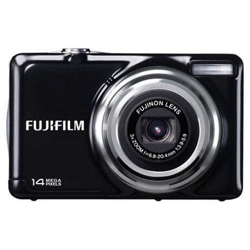 Fujifilm FinePix JV300 Digital Camera, Black, 14MP, 3x Optical Zoom, 2.7 inch LCD Screen