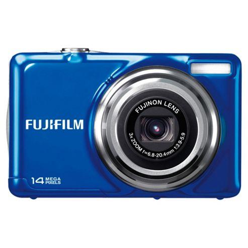 Fujifilm FinePix JV300 Digital Camera, Blue, 14MP, 3x Optical Zoom, 2.7 inch LCD Screen
