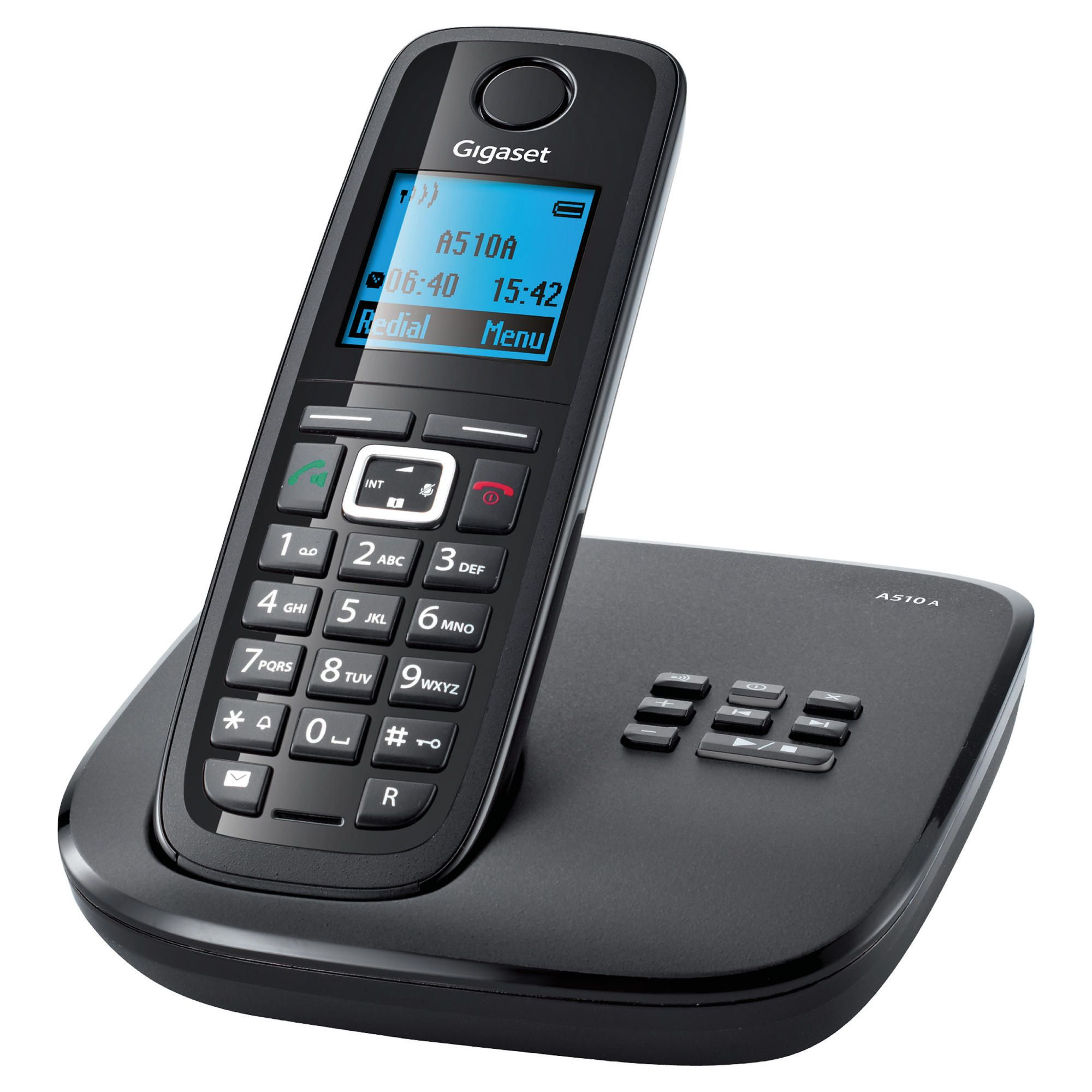gigaset al410 a cordless phone with answering machine. Black Bedroom Furniture Sets. Home Design Ideas