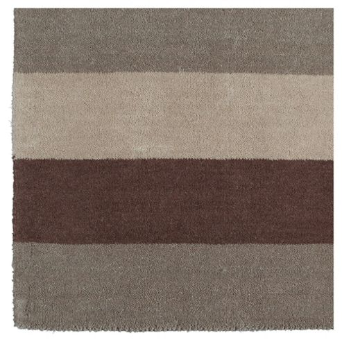 Tesco Vertical Stripe Runner, Mocha 67x200cm