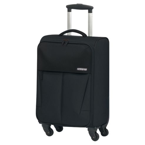 Samsonite American Tourister Genoa 4-Wheel Suitcase, Black Small