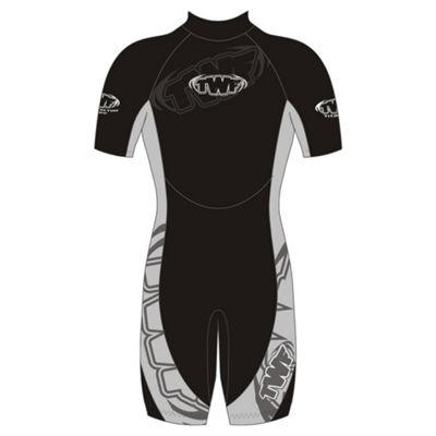 TWF Shortie Men's 2.5mm Wetsuit 42/40 Silver