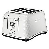 Delonghi Brillante CTJ4003 4 Slice Toaster - White