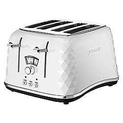De'Longhi Brillante CTJ4003  4 Slice Toaster- White