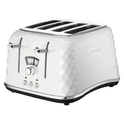 Delonghi Brillante CTJ4003 4 Slice Toaster - White