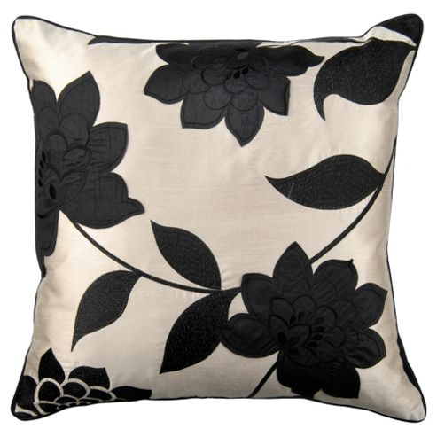Catherine Lansfield Clarissa Cushion Black