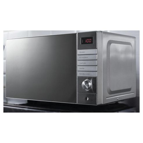 Tesco Plus Solo Microwave MP1714 17L, Stainless Steel