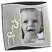 "Two Tone Silver-plated 4""x3"" Photo Frame - Giraffe"