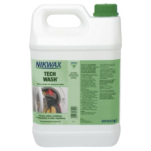 Nikwax Tech Wash Wash-In Cleaner for Waterproof Textiles, 5 Litres