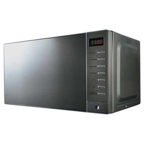 Tesco Plus MT2014 20L Solo Microwave, Stainless Steel