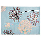 Tesco Rugs Meadow Rug Soft Teal 120x170cm
