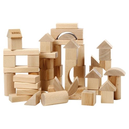 Brio 50 Piece Blocks Natural, wooden toy