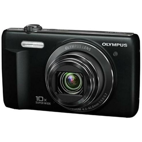Olympus VR-340 Digital Camera, Black, 16MP, 10x Optical Zoom, 3.0 inch LCD Screen