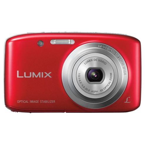 Panasonic S5 Digital Camera Red 16.1MP 4x Optical Zoom 2.7 inch LCD Screen
