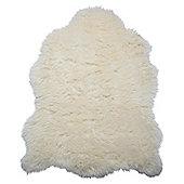 Tesco Rugs Faux Sheepskin Rug Single, Cream