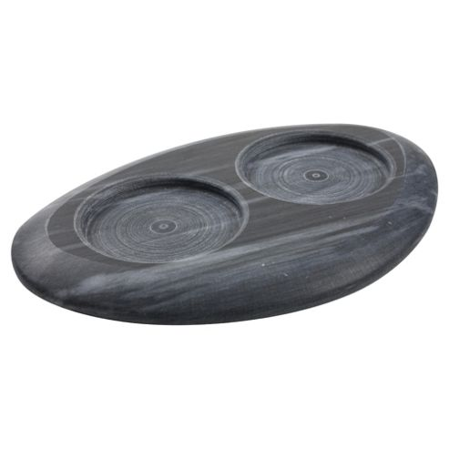 T&G Set of 2 Gift Boxed Marble Mill Rests, Black