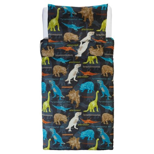 Tesco Kids Dinosaur Single Duvet Cover Set