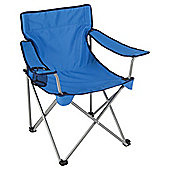 Tesco Folding Camping Chair, Blue with Dark Blue Trim