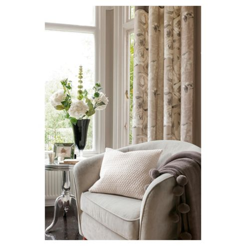 Catherine Lansfield Tea Rose Lined Pencil Pleat Curtains W167xL229cm (66x90