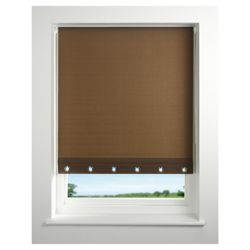 Eyelet roller blind 60cm Brown