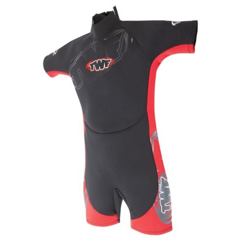 TWF Shortie Kids' 2.5mm Wetsuit, age 9/10 - Red
