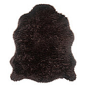 Tesco Rugs Faux Sheepskin Rug Single Chocolate